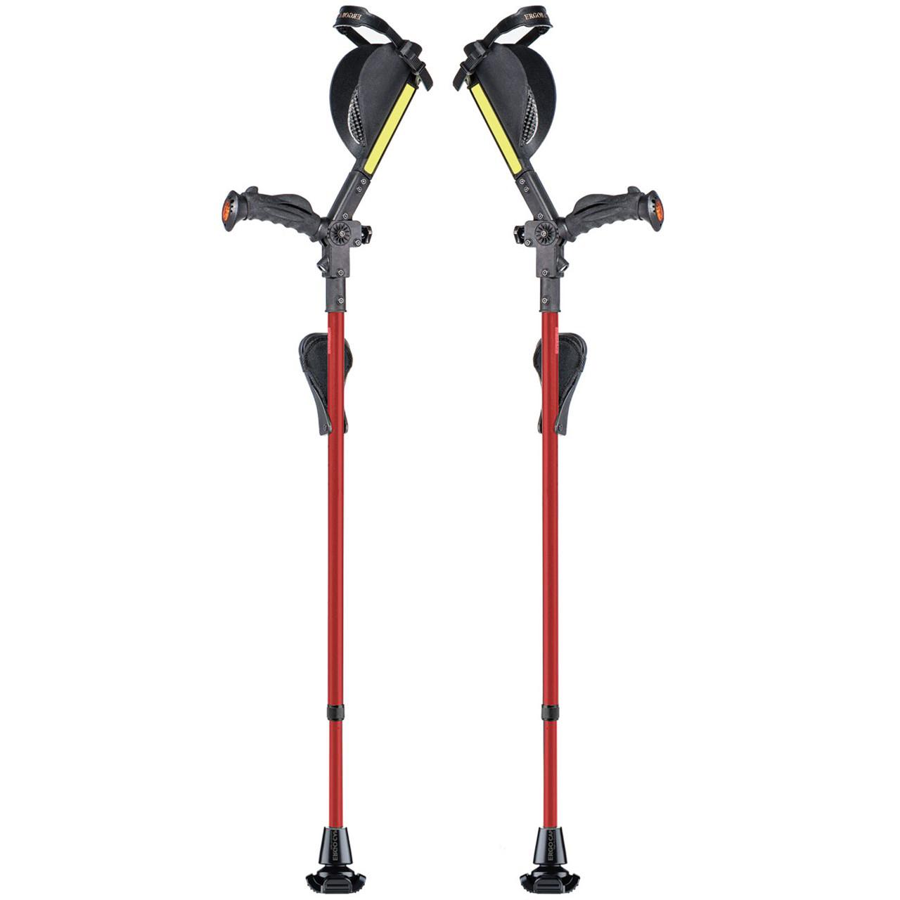 Ergobaum Ergonomic Forearm Crutches - Adult - Pink