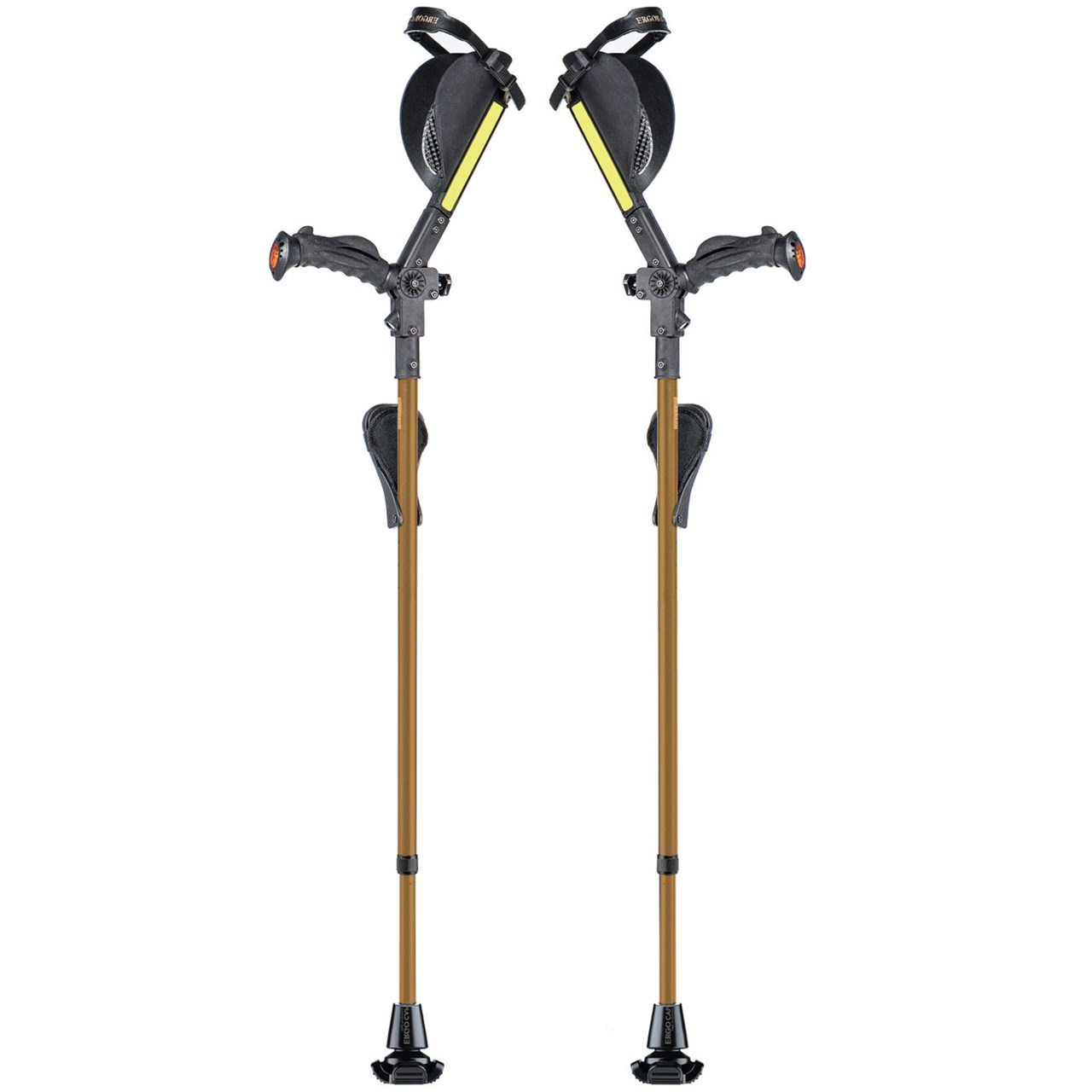Ergobaum Ergonomic Forearm Crutches - Adult - Gold-Tone