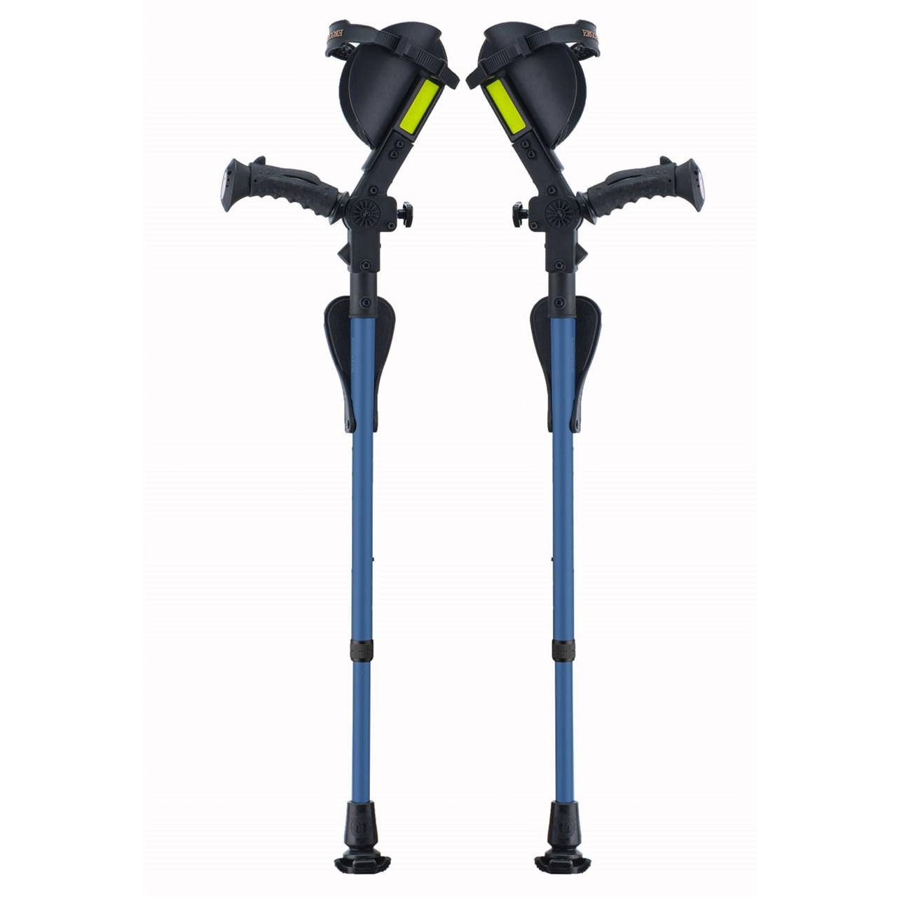 Ergobaum Junior Ergonomic Forearm Crutches - Juvenile -Blue
