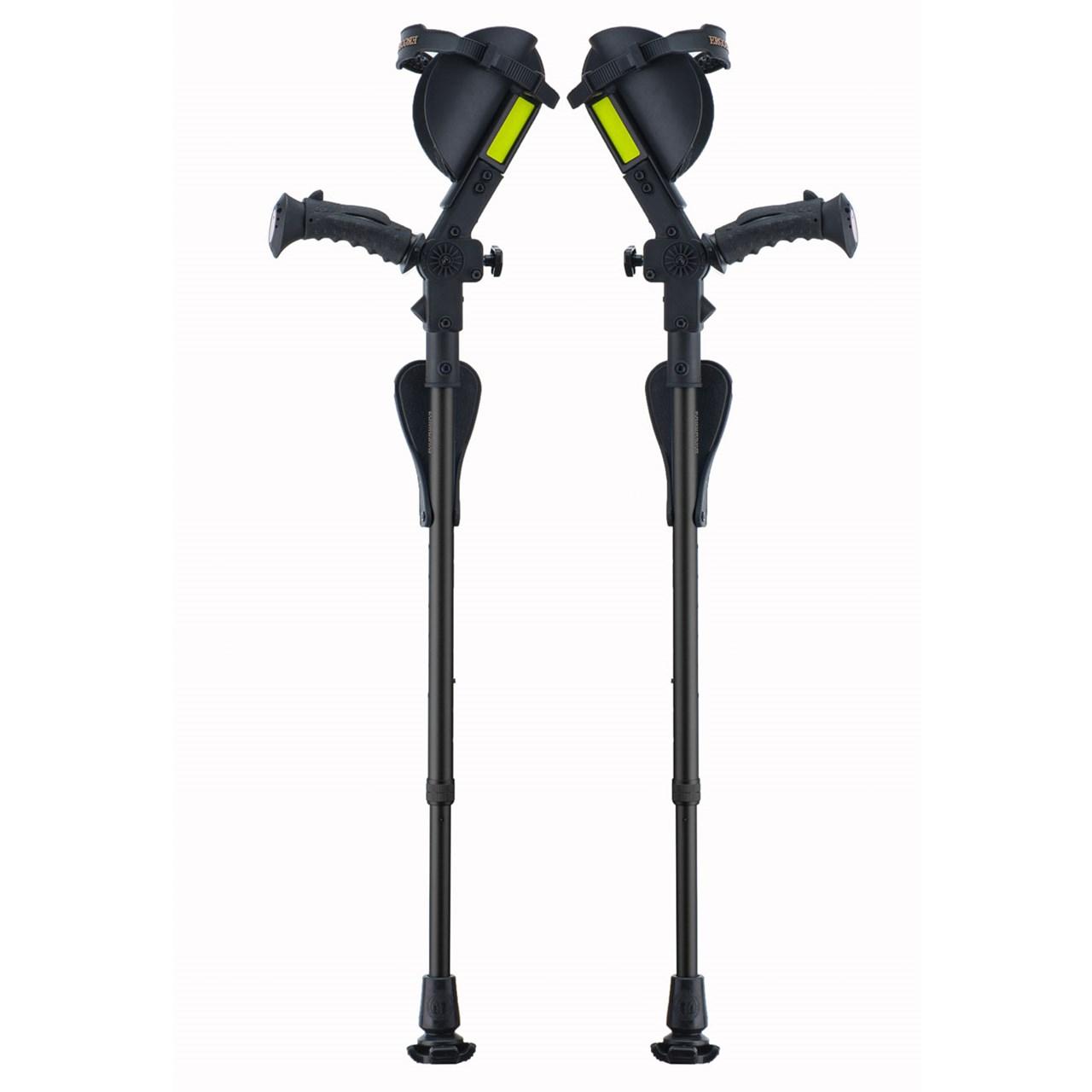Ergobaum Junior Ergonomic Forearm Crutches - Juvenile - Black