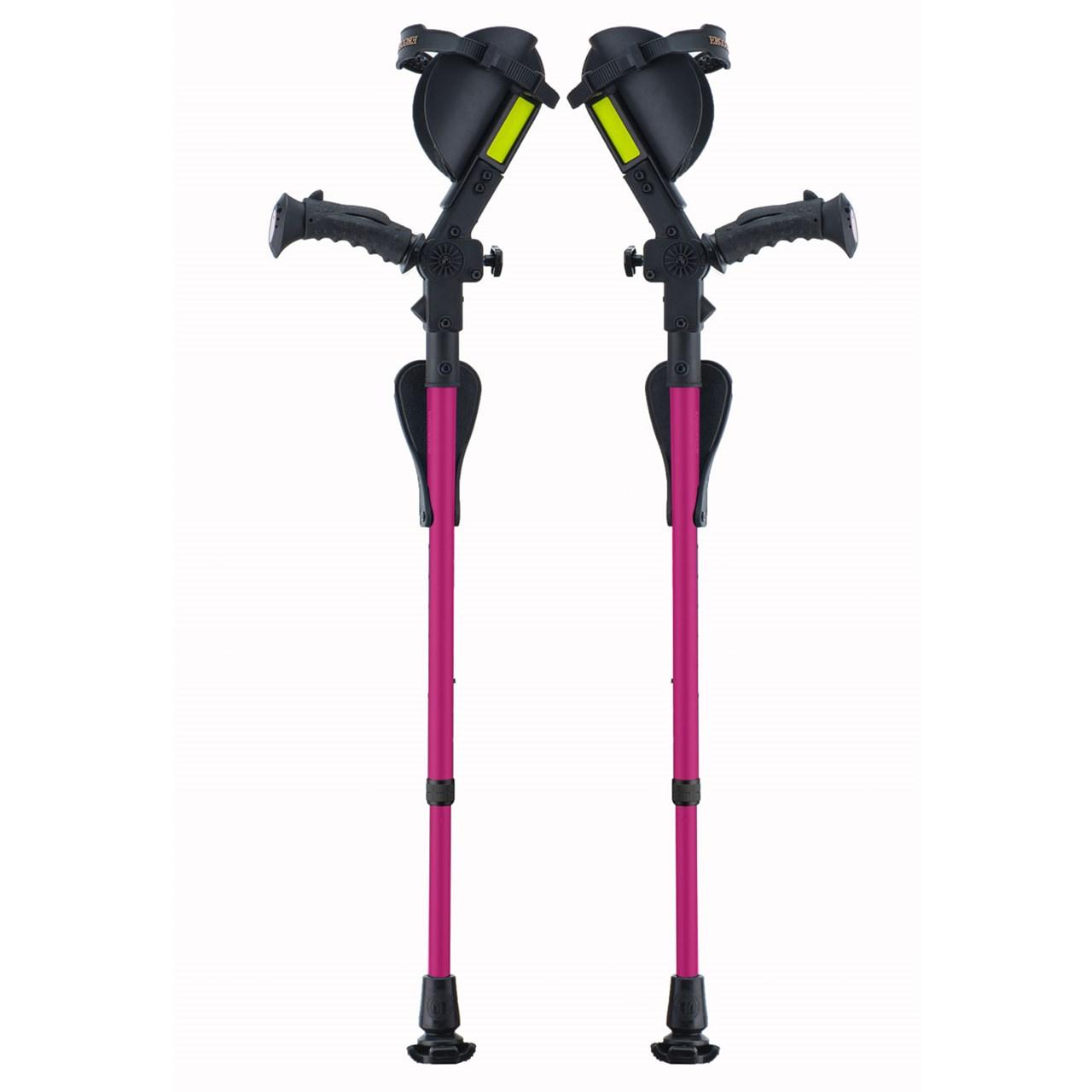Ergobaum Junior Ergonomic Forearm Crutches - Juvenile - Pink