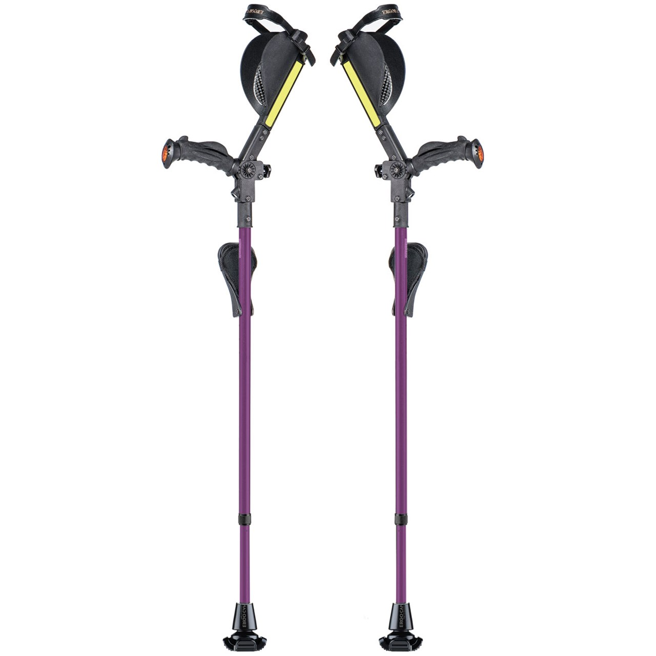Ergobaum Ergonomic Forearm Crutches - Adult - Purple