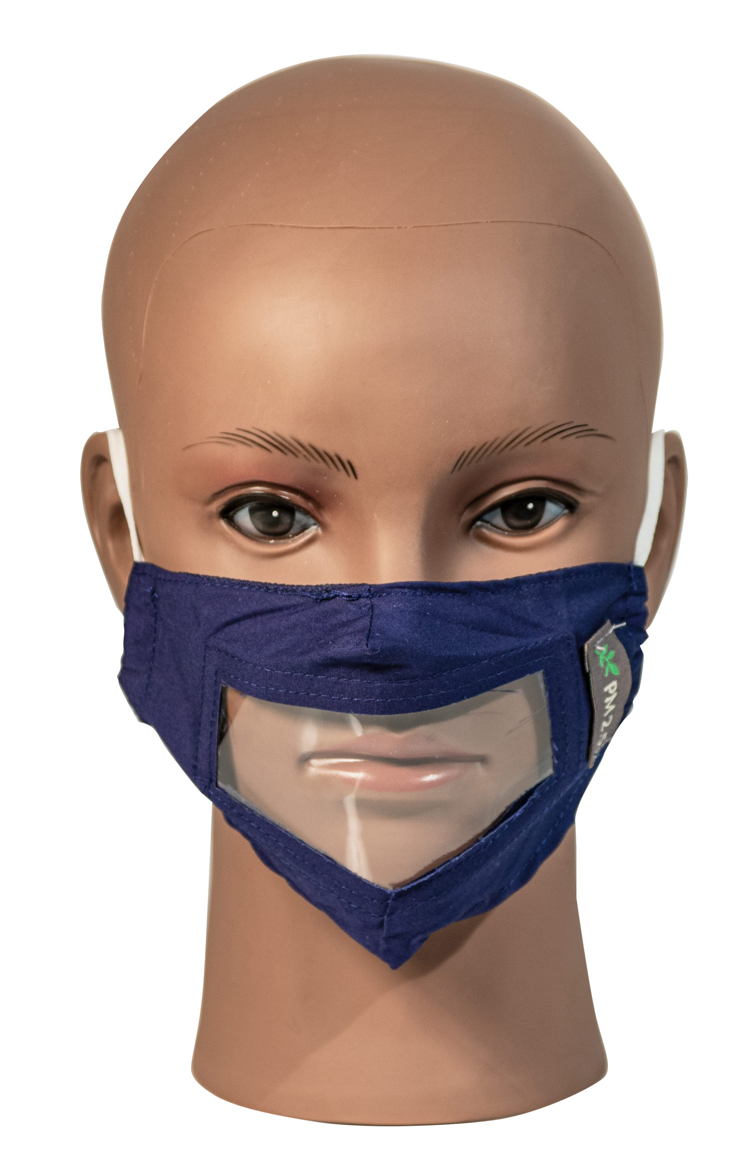 Blue Childrens Reusable Face Mask with Clear Window