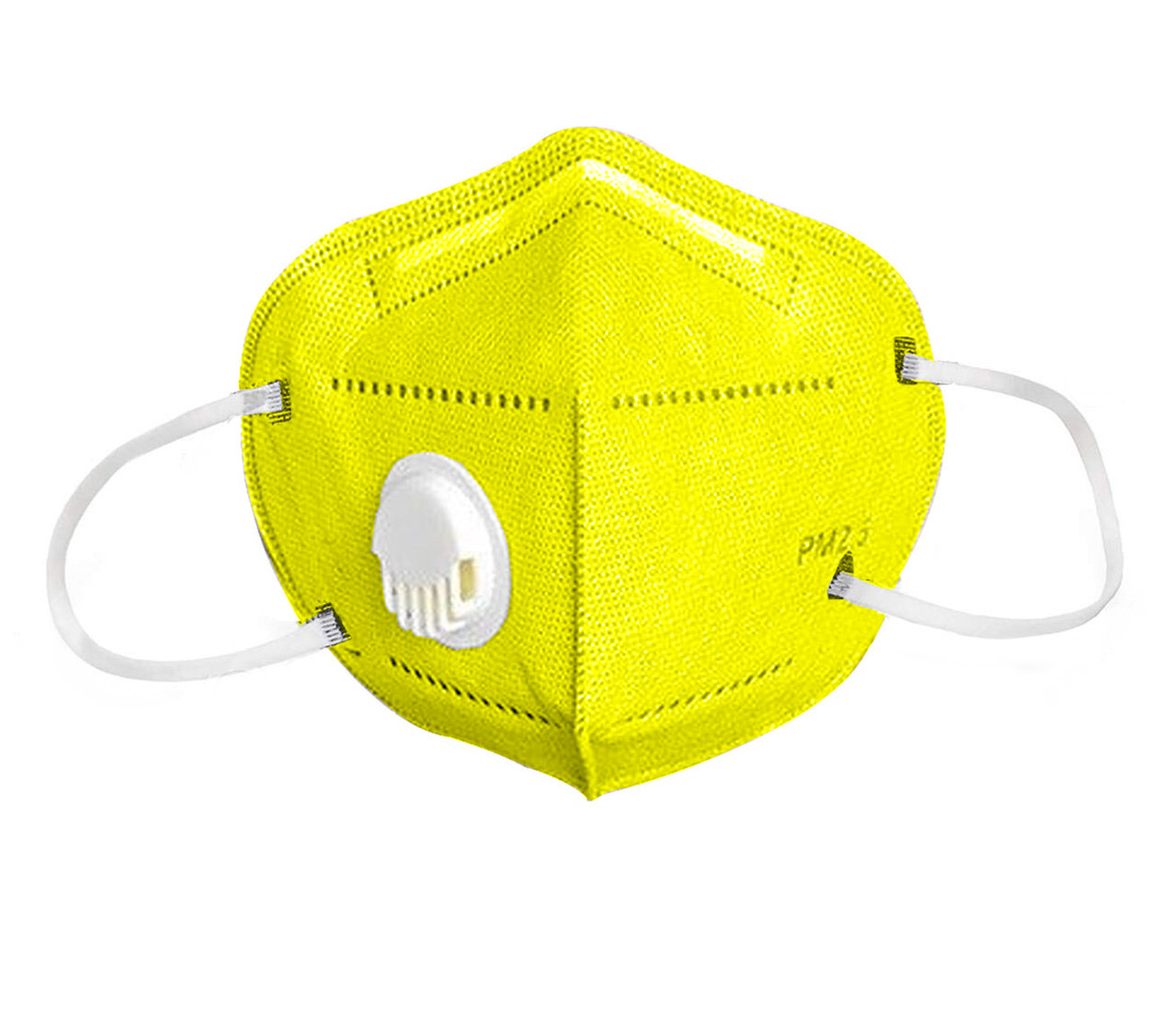 Reusable Yellow Face Mask with Vent