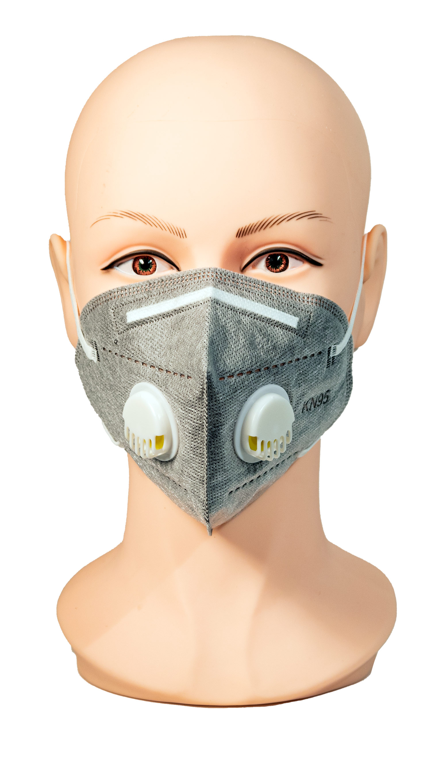 Face Mask with duel Exhale Vents- Grey