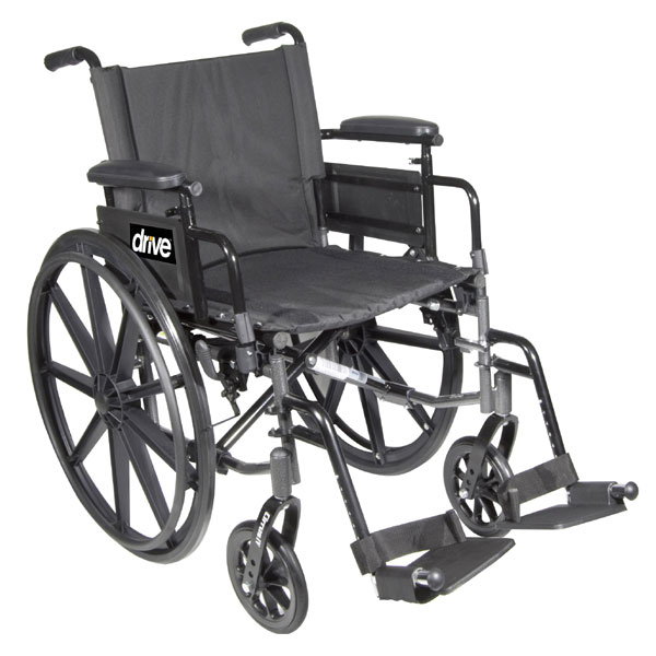 Cirrus IV Wheelchair 16-in Seat Flip Back Full Arm Swing-Away Footrest