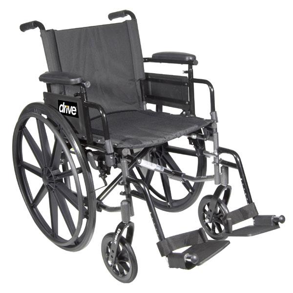 Cirrus IV Wheelchair 20-in Seat Flip Back Full Arm Swing-Away Footrest