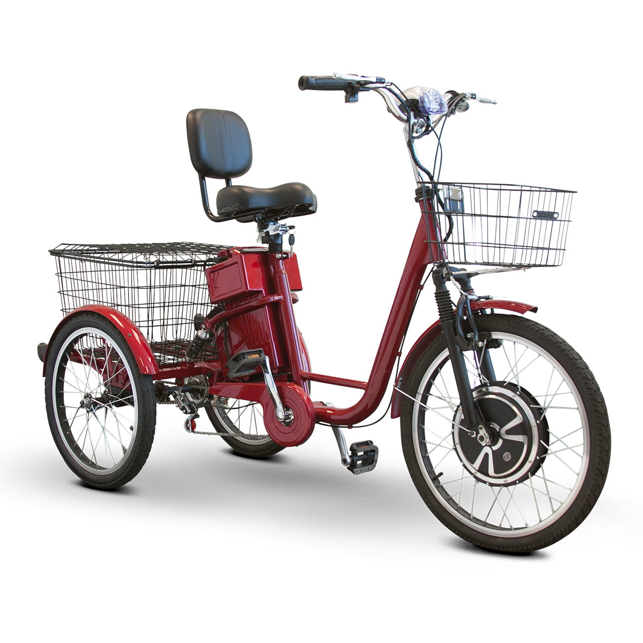 EWheels EW-29 Electric Trike Tricycle Scooter- Red