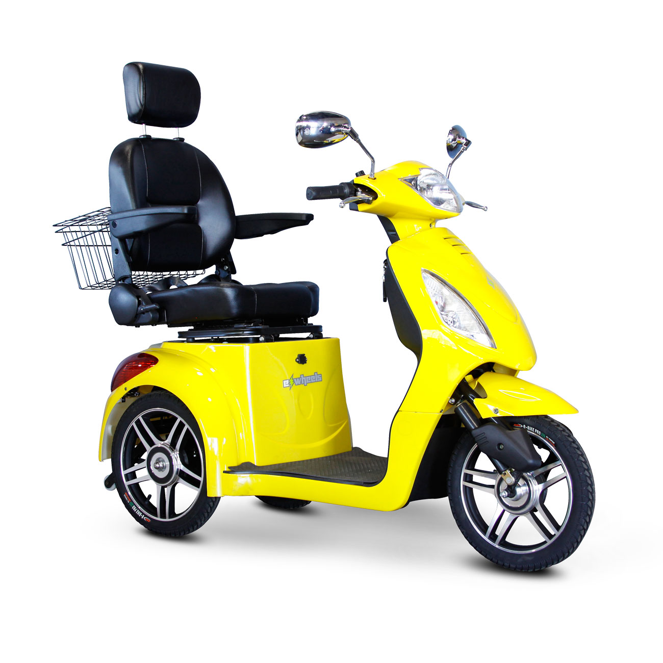 E-Wheels EW-36 3-Wheel Electric Senior Mobility Scooter - Yellow