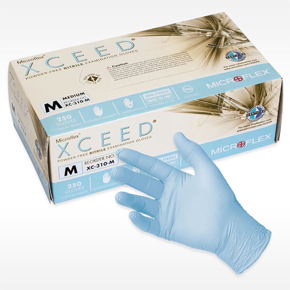 Powder-Free Nitrile Examination Gloves - Medium