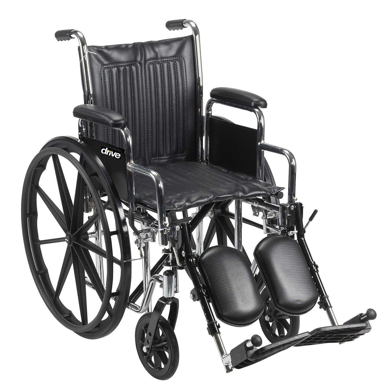 Chrome Sport 16-in Wheelchair-Desk Arms-Footrests