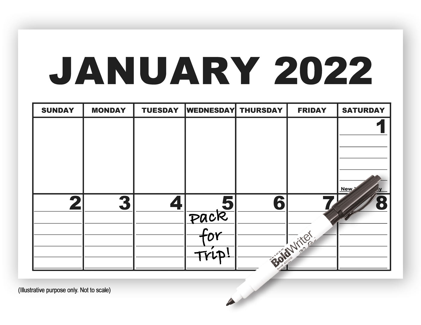 Giant Appointment Calendar 2022 with Pen