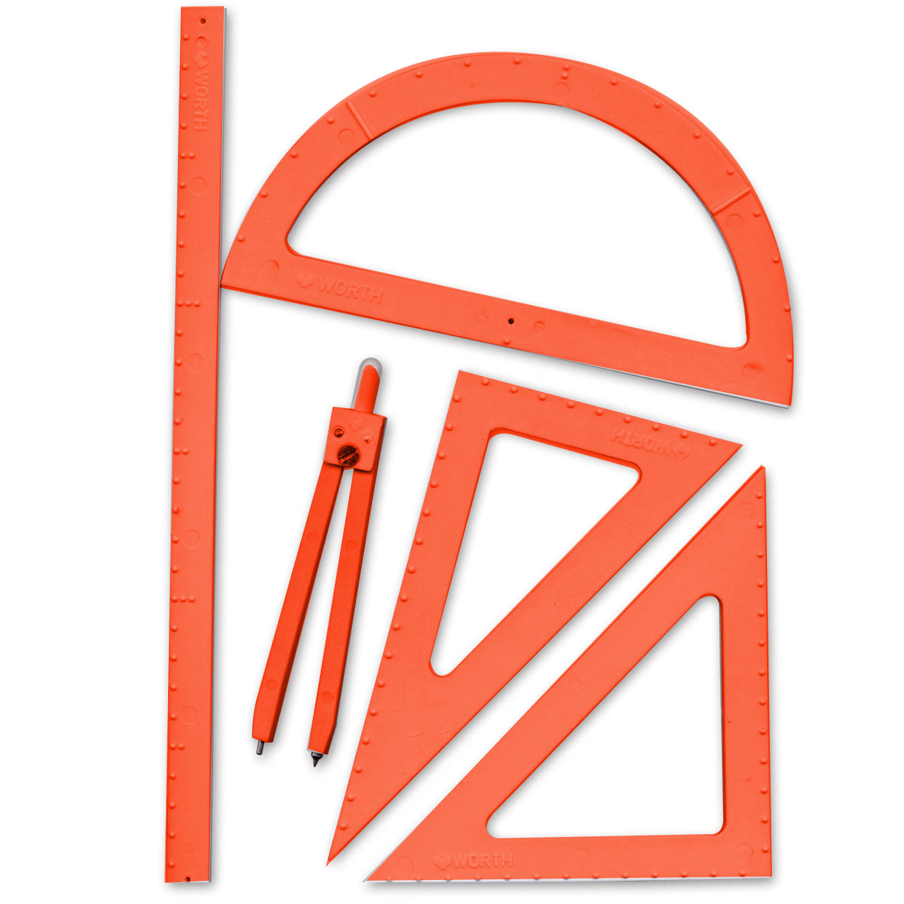 5-Piece Tactile Metric Geometry Set -Large