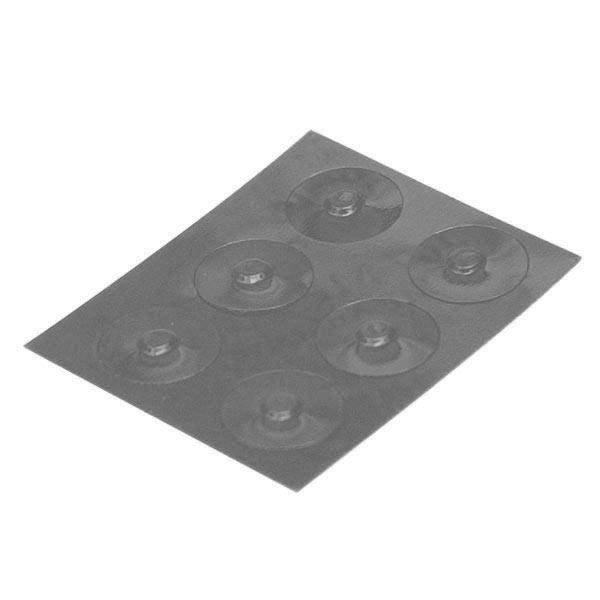 Color-Dots Tactile Key Locators - Grey