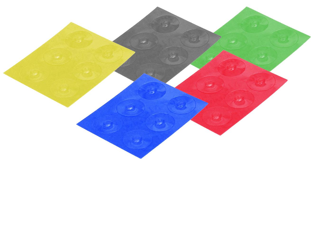Color-Dots Tactile Key Locators - Set of 30 - 6 of each color
