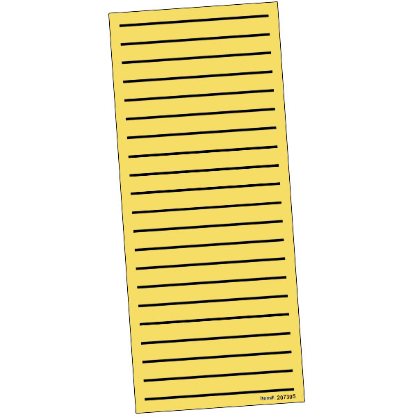 Bold Line Low Vision Shopping List- Pad of 100 - Yellow