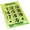Telephone Stickers - Black on Green - Alphanumeric