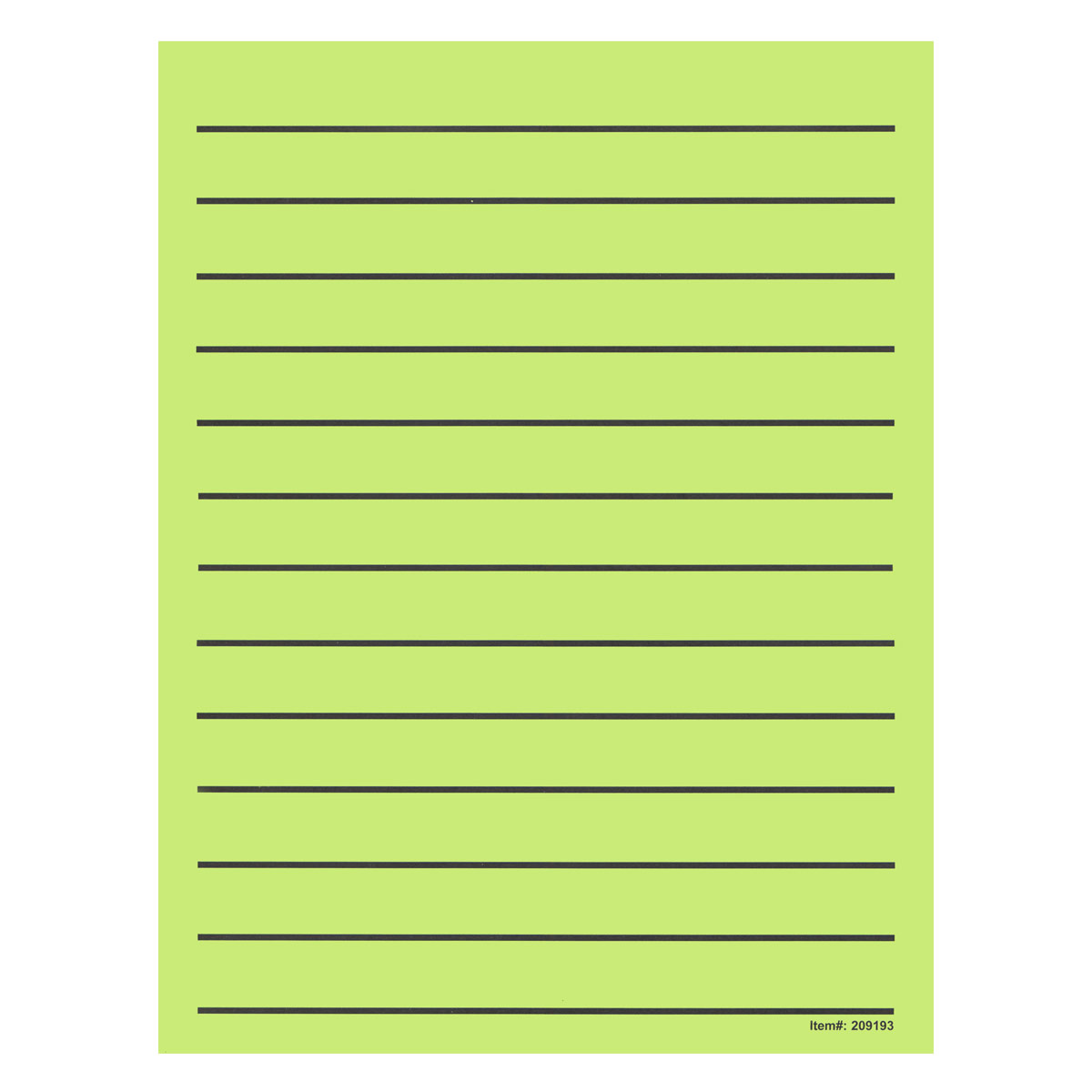 Bold Line Paper Pad in Neon Green with Black Lines- 90 Sheets