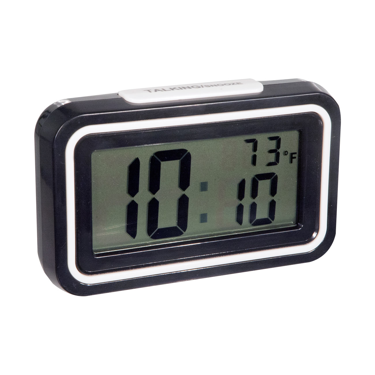 English Talking Temperature Clock - Black