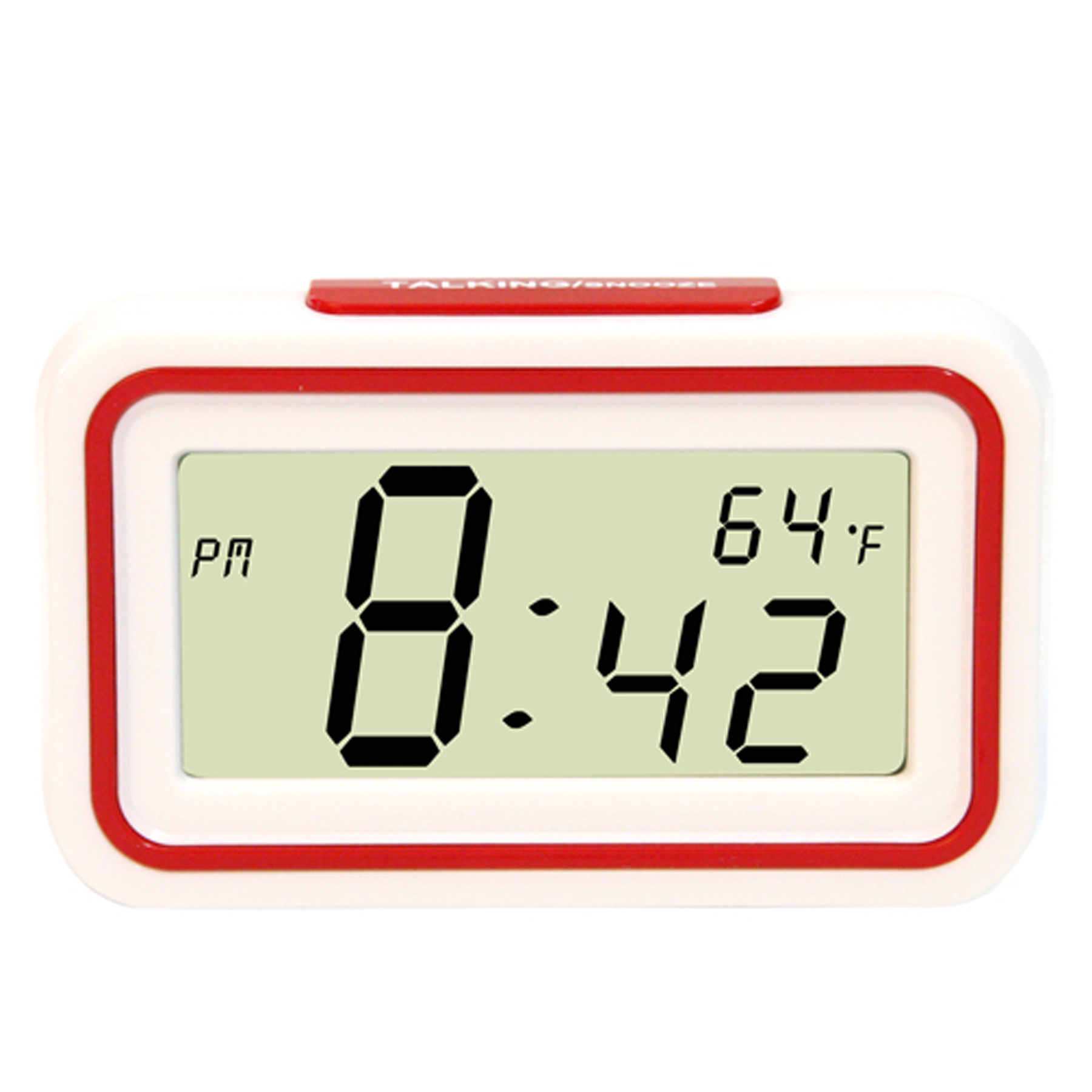English Talking Temperature Clock- Red