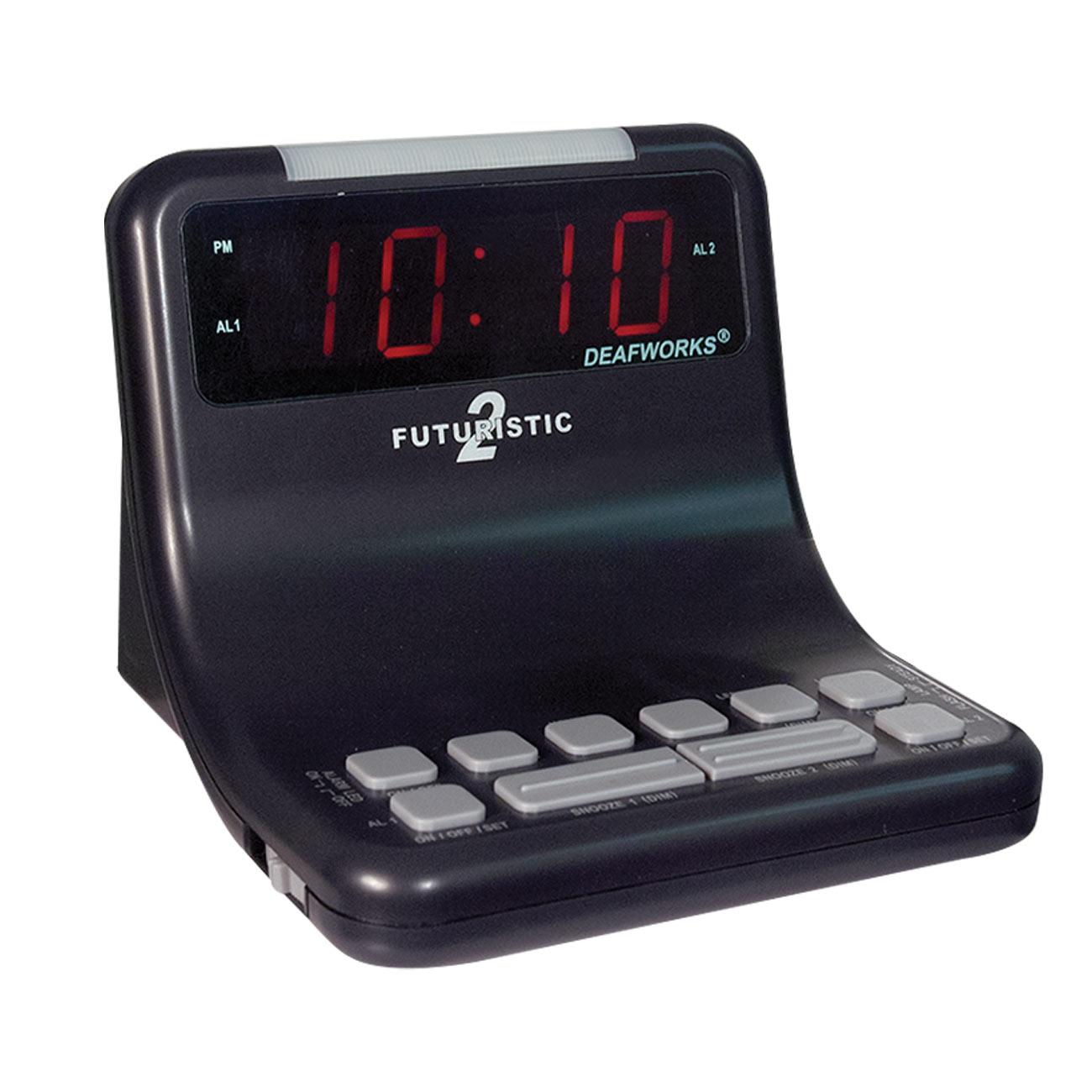 Futuristic 2 Alarm Clock - Black