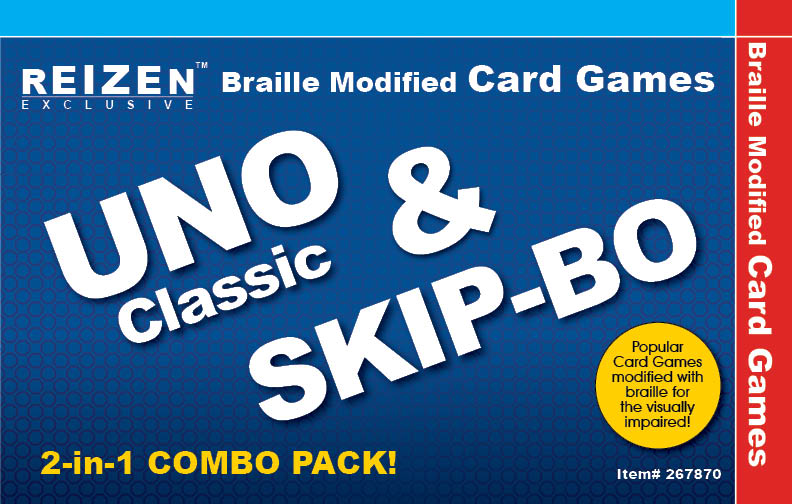 Braille Uno and Skip Bo Cards Combo Pack