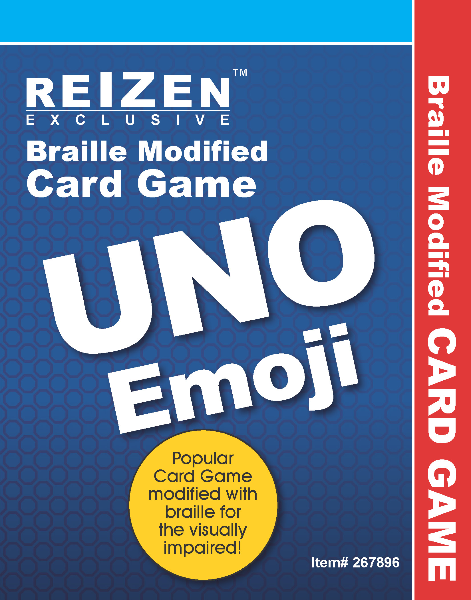 Uno Emoji Braille Playing Cards
