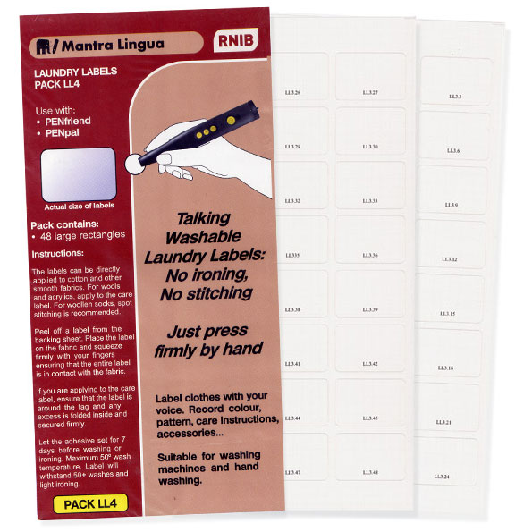 PenFriend Audio Laundry Label - Pack 4 - 48-pack