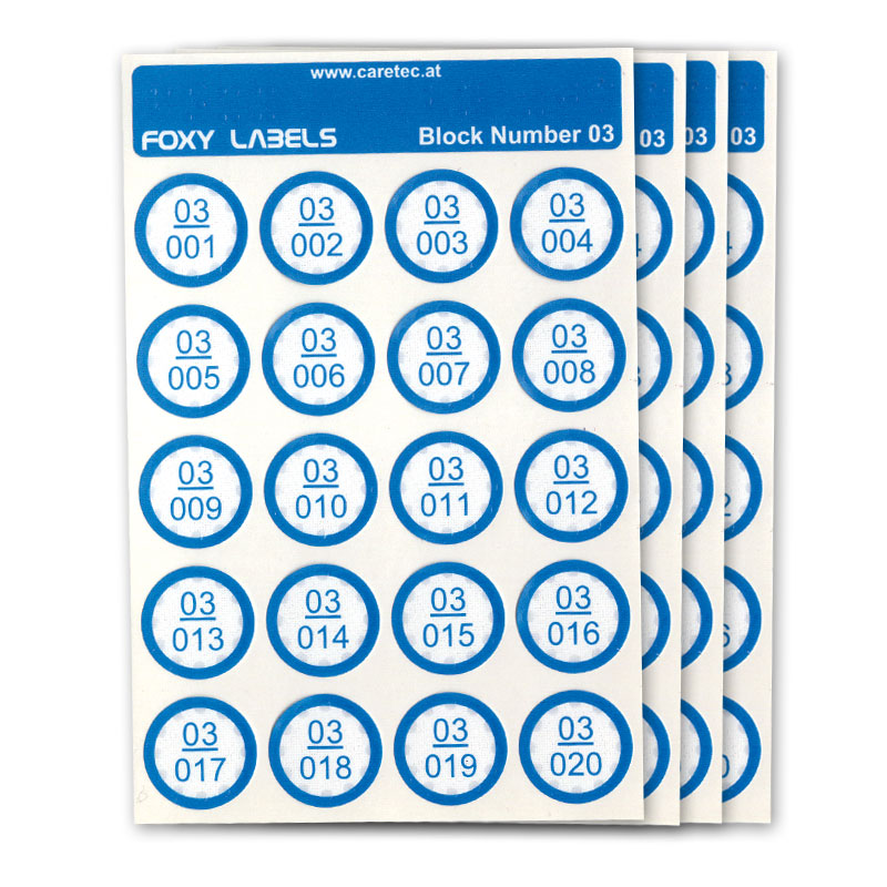 Extra Labels for Foxy Reader Talking Label Reader - Set 3 - 240 Labels