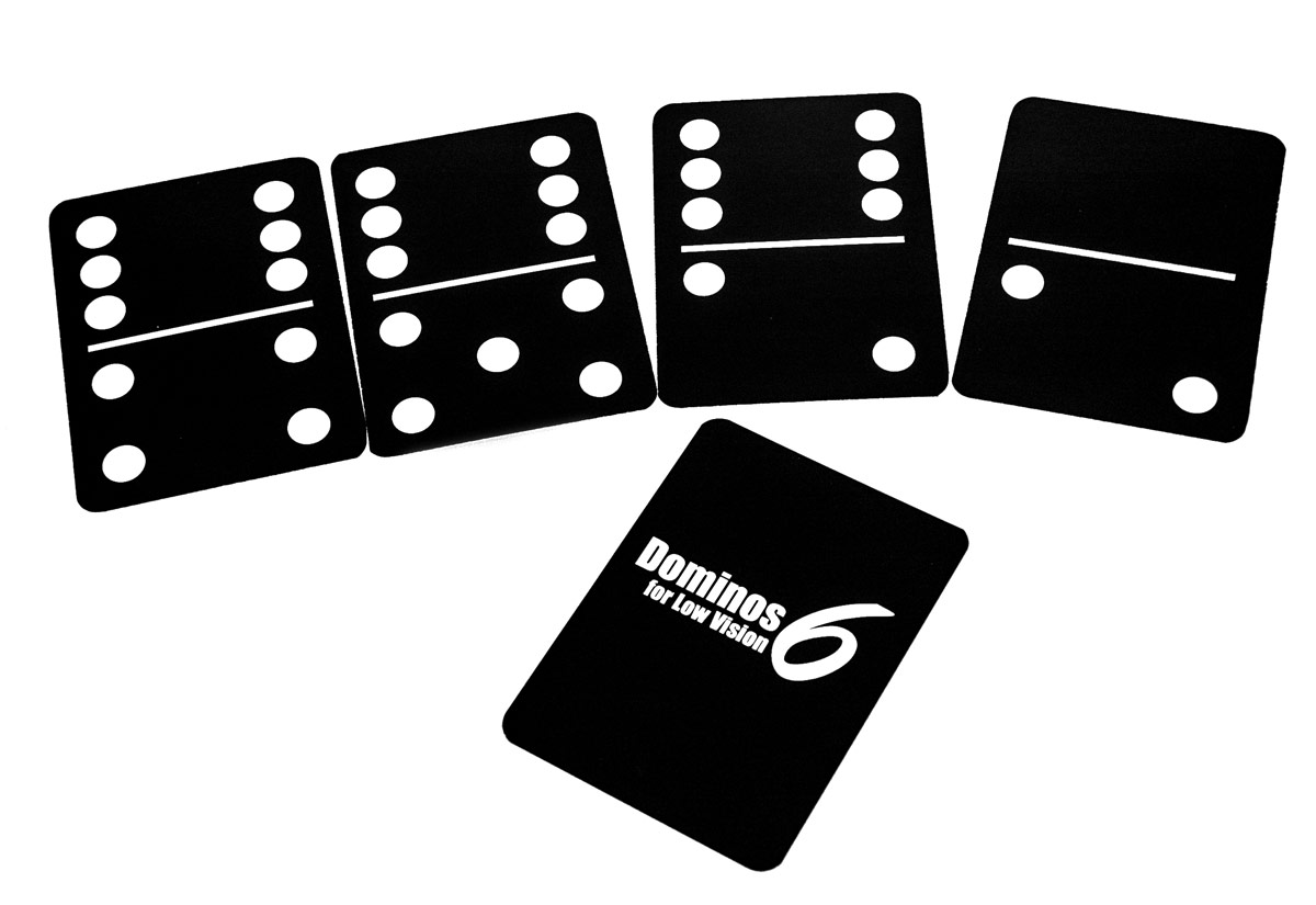 Dominos6 for Low Vision- Black