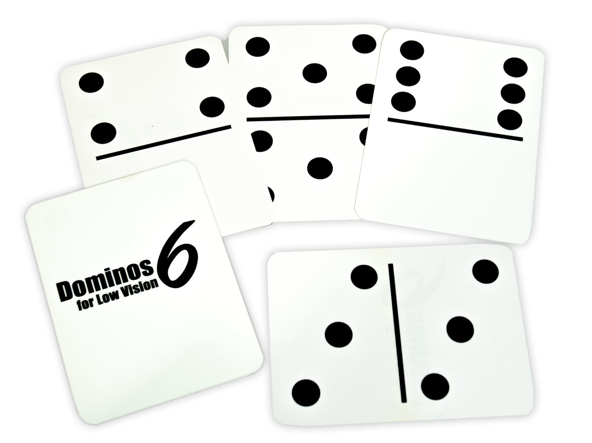 Dominos6 for Low Vision- White