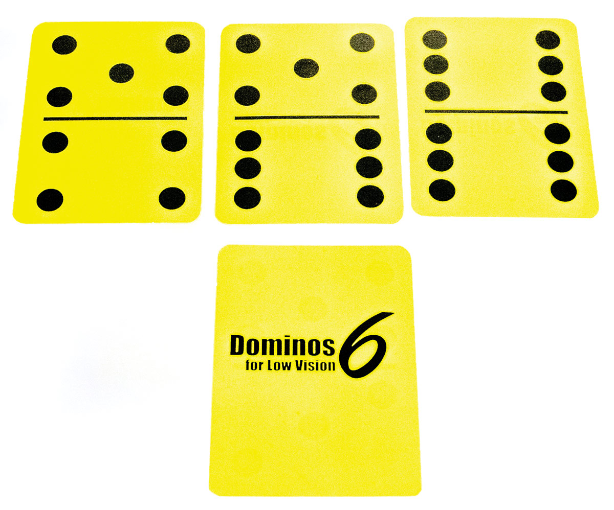 Dominos6 for Low Vision- Yellow
