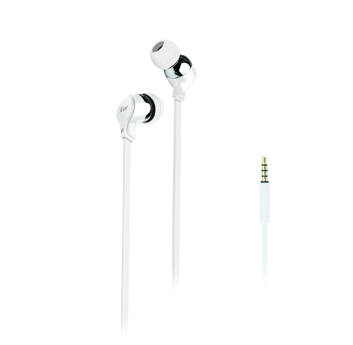 Party On In-Ear Stereo Earphones - White