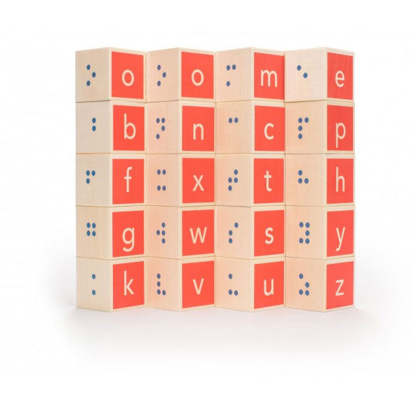 Uncle Goose Braille Alphabet Building Blocks