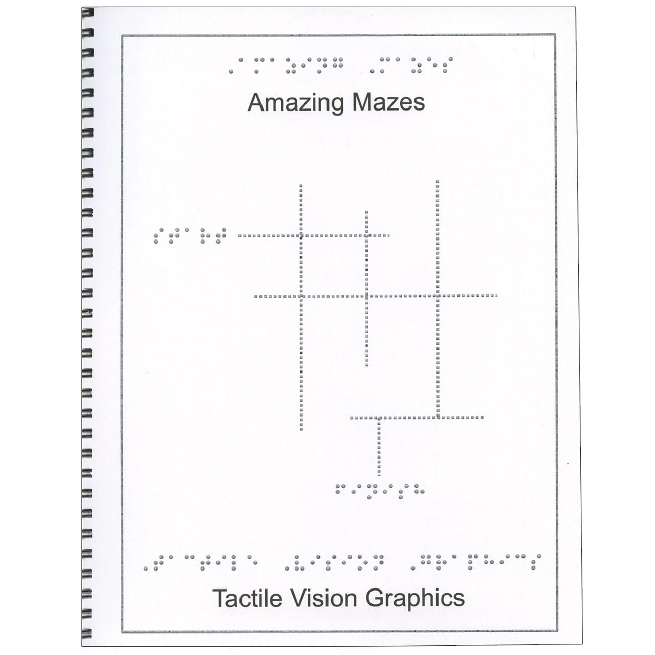 Braille Childrens Book Amazing Mazes