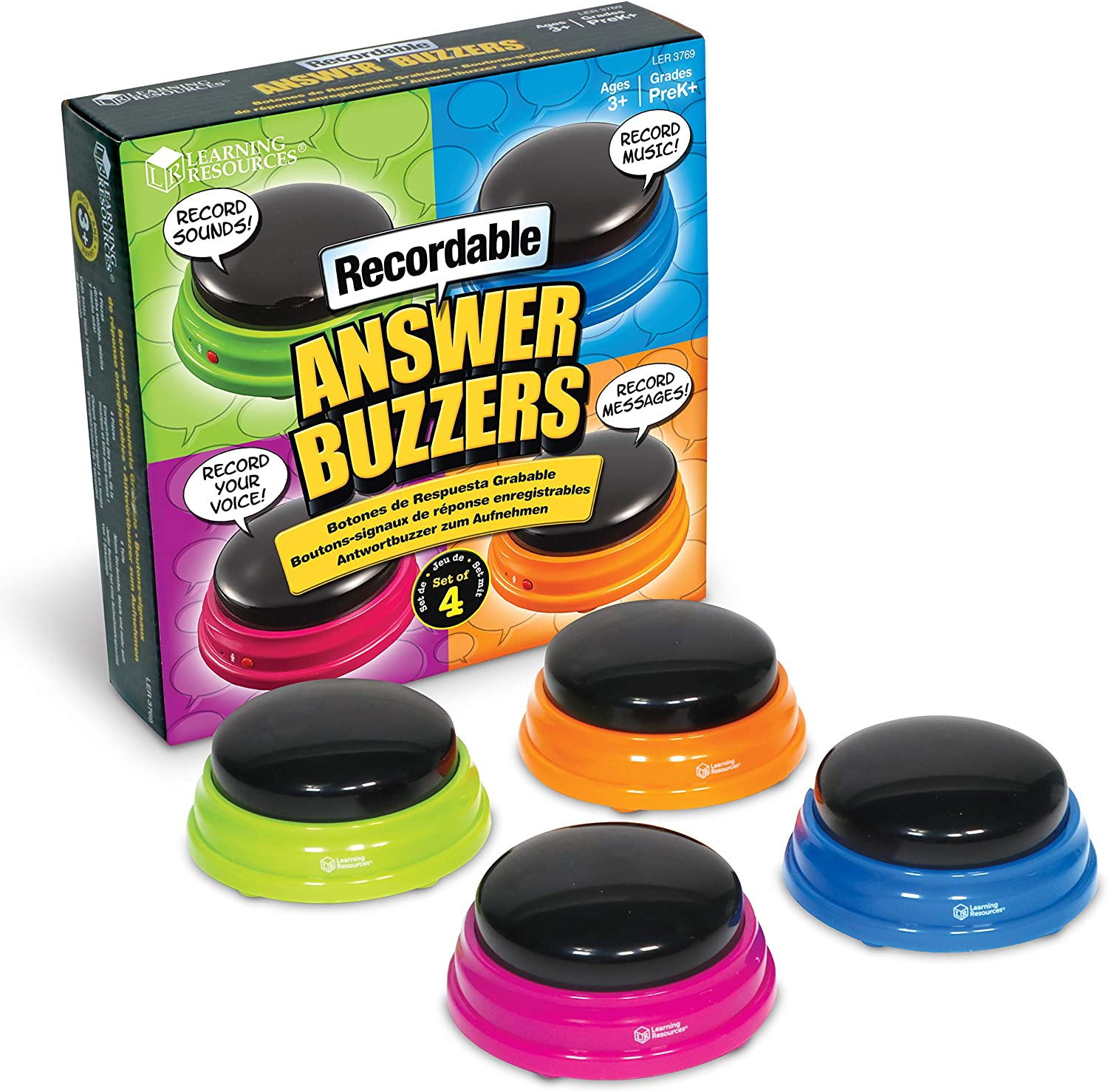 Recordable Answer Buzzers- Voice & Sound