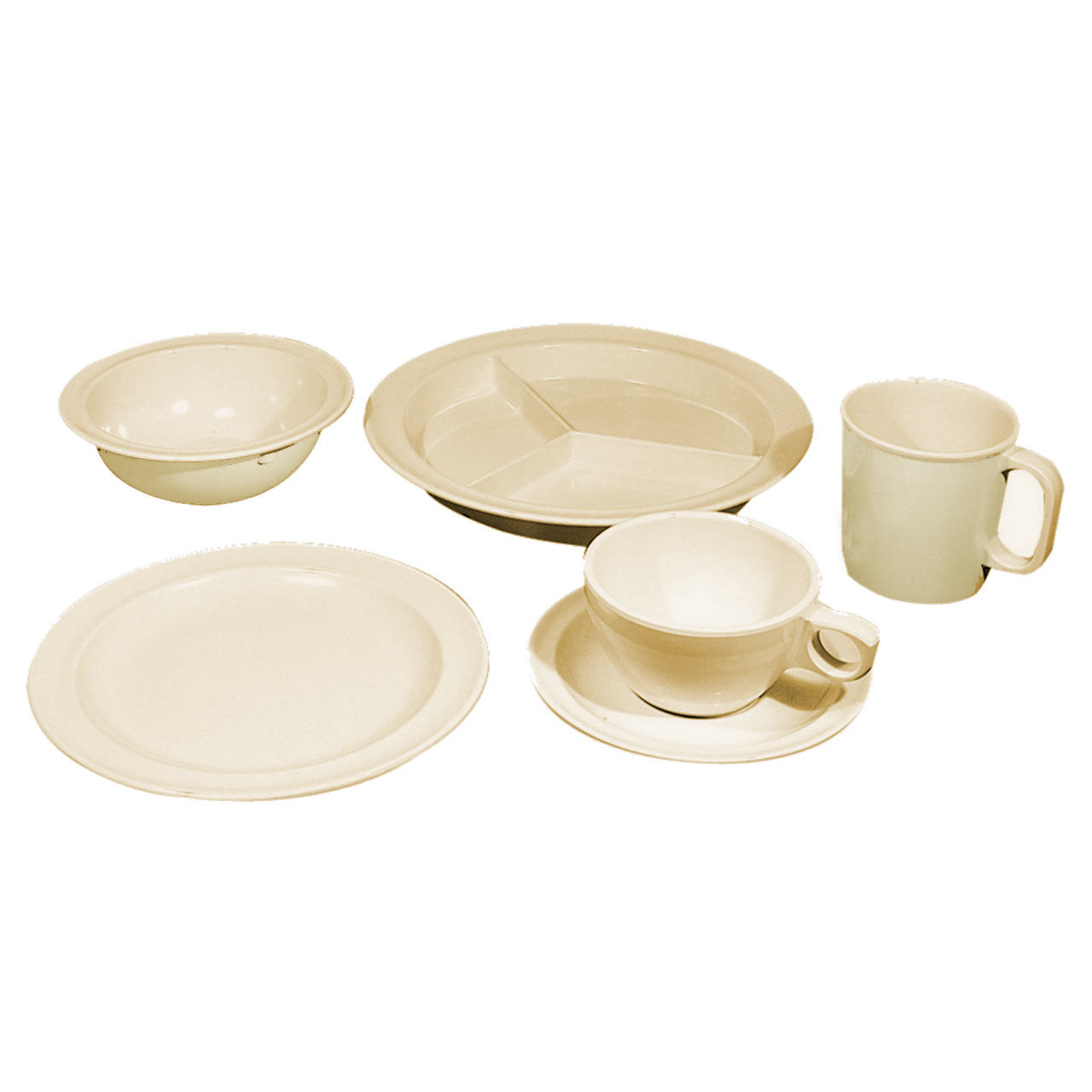 Melamine 6pc. Dinnerware Kit
