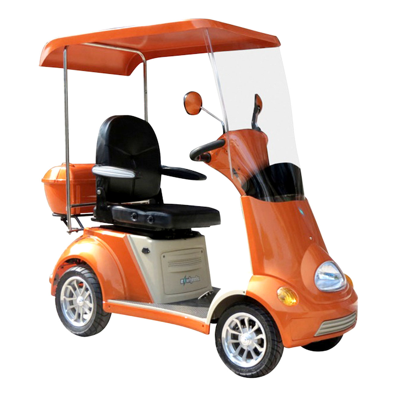 E-Wheels EW-54 4-Wheel Buggie Electric Mobility Scooter - Orange