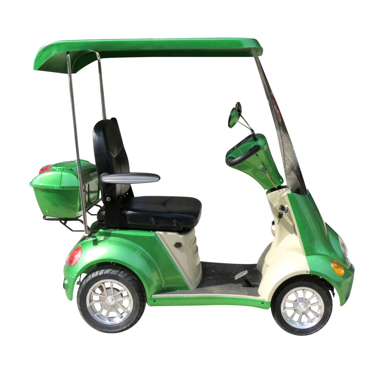 E-Wheels EW-54 4-Wheel Buggie Electric Mobility Scooter- Sour Apple