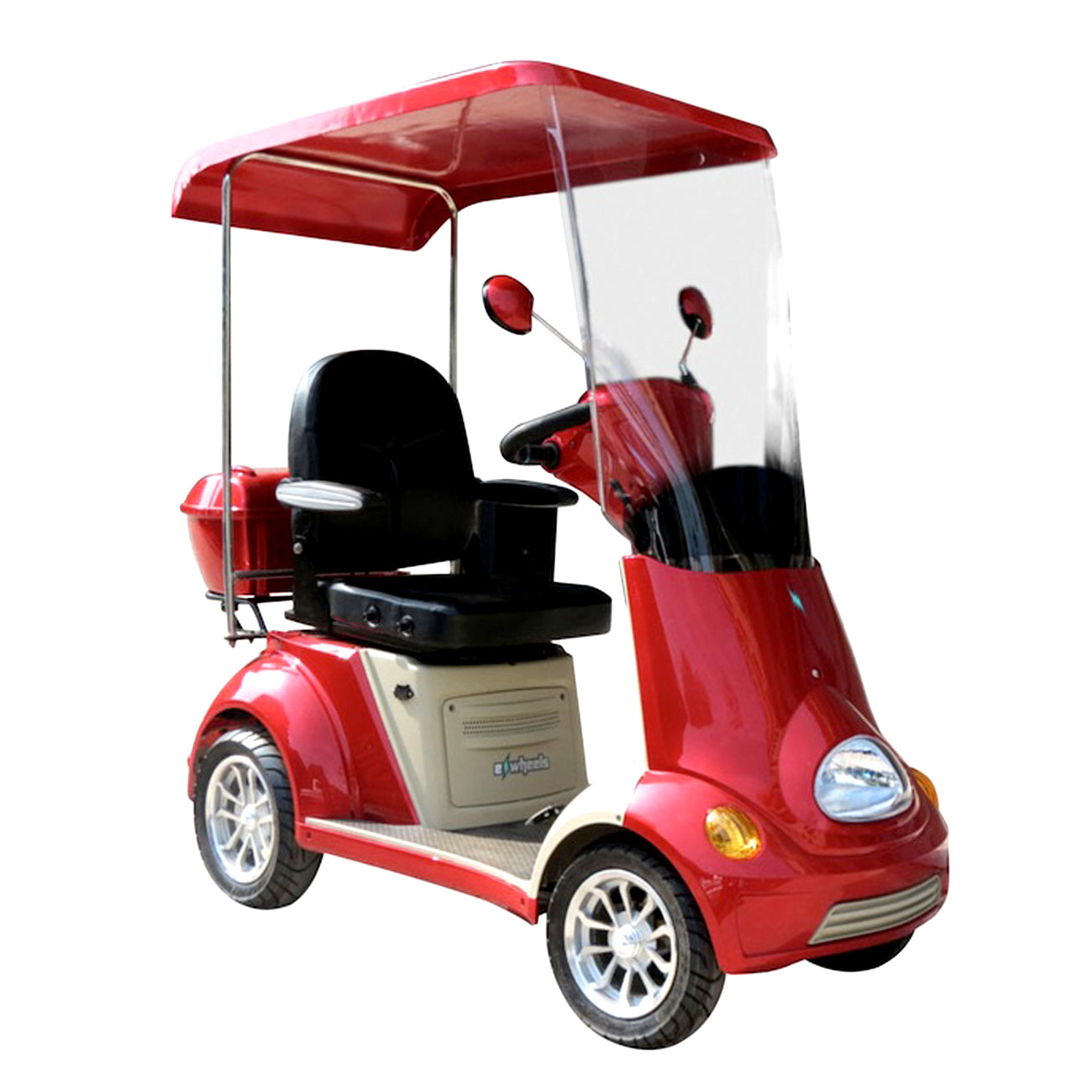 E-Wheels EW-54 4-Wheel Buggie Electric Mobility Scooter- Red