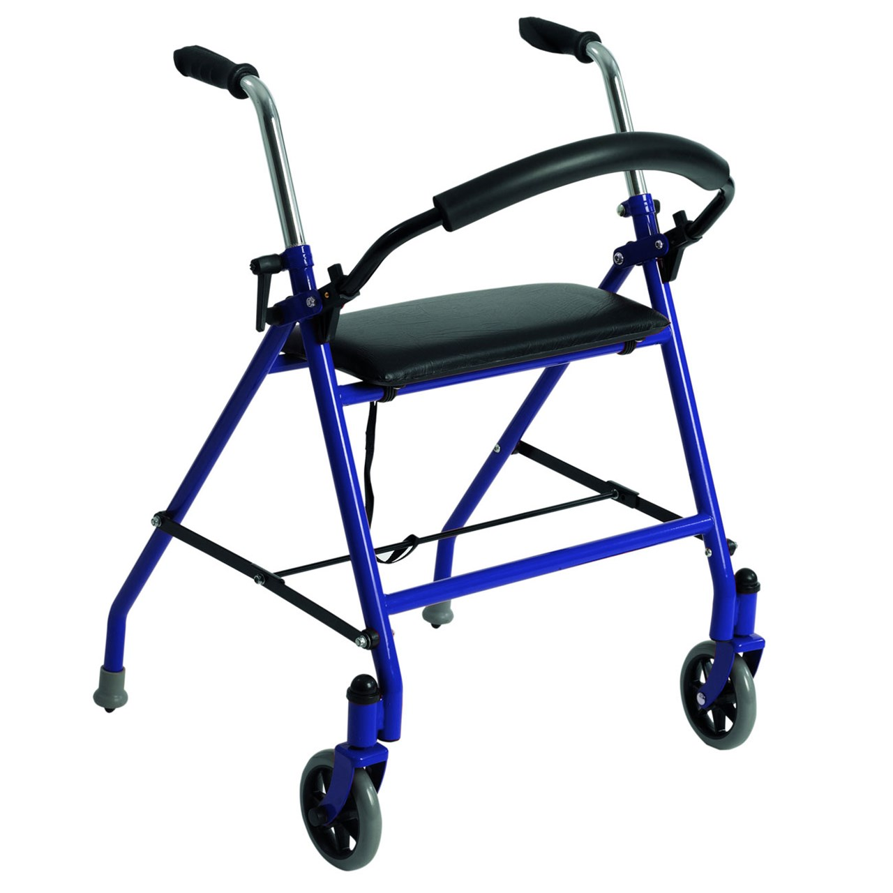 Two Wheeled Walker with Seat - Blue