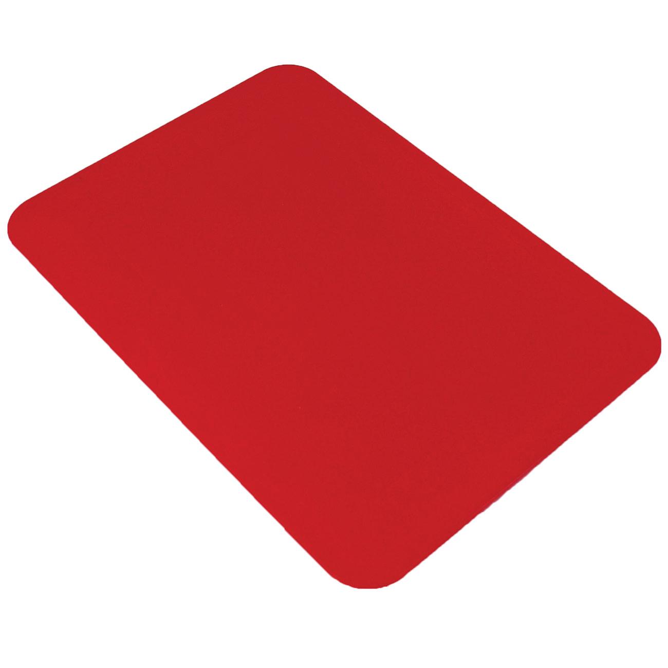 Tenura Non-Slip Rectangular Table Mat - Red