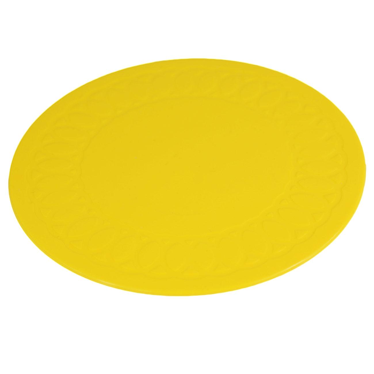 Tenura Non-Slip Coaster - Yellow