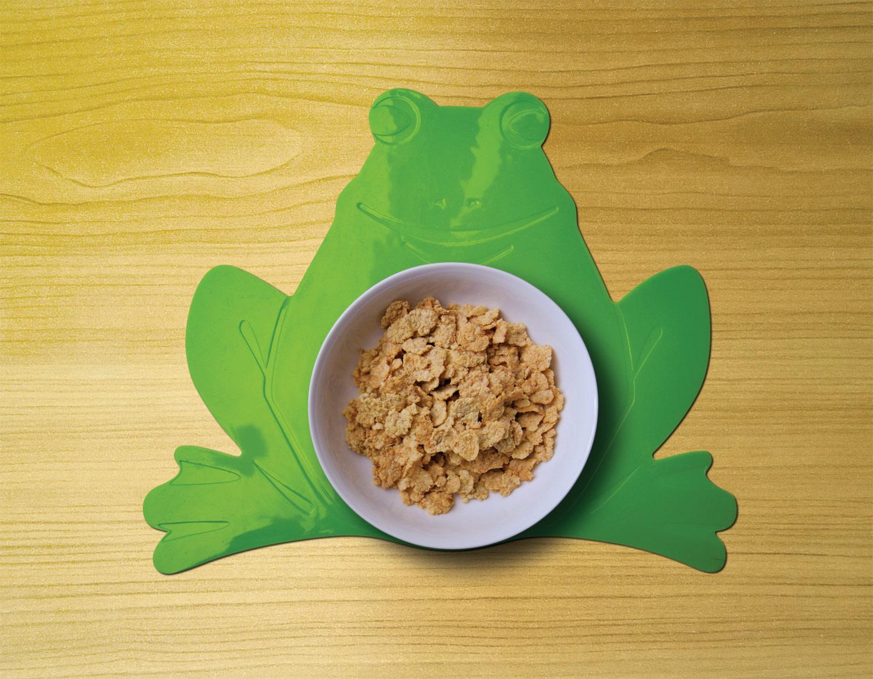 Tenura Non-Slip Childrens Mat - Green Frog