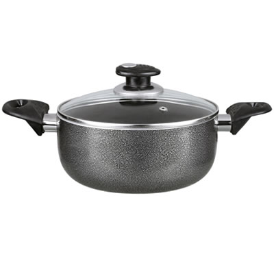 NON-STICK 5 QT POT- GRAY