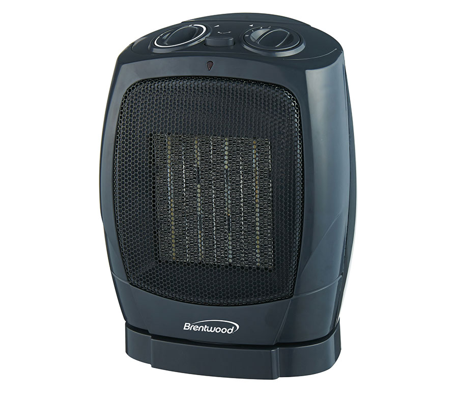 PORTABLE OSCILATING CERAMIC SPACE HEATER AND FAN