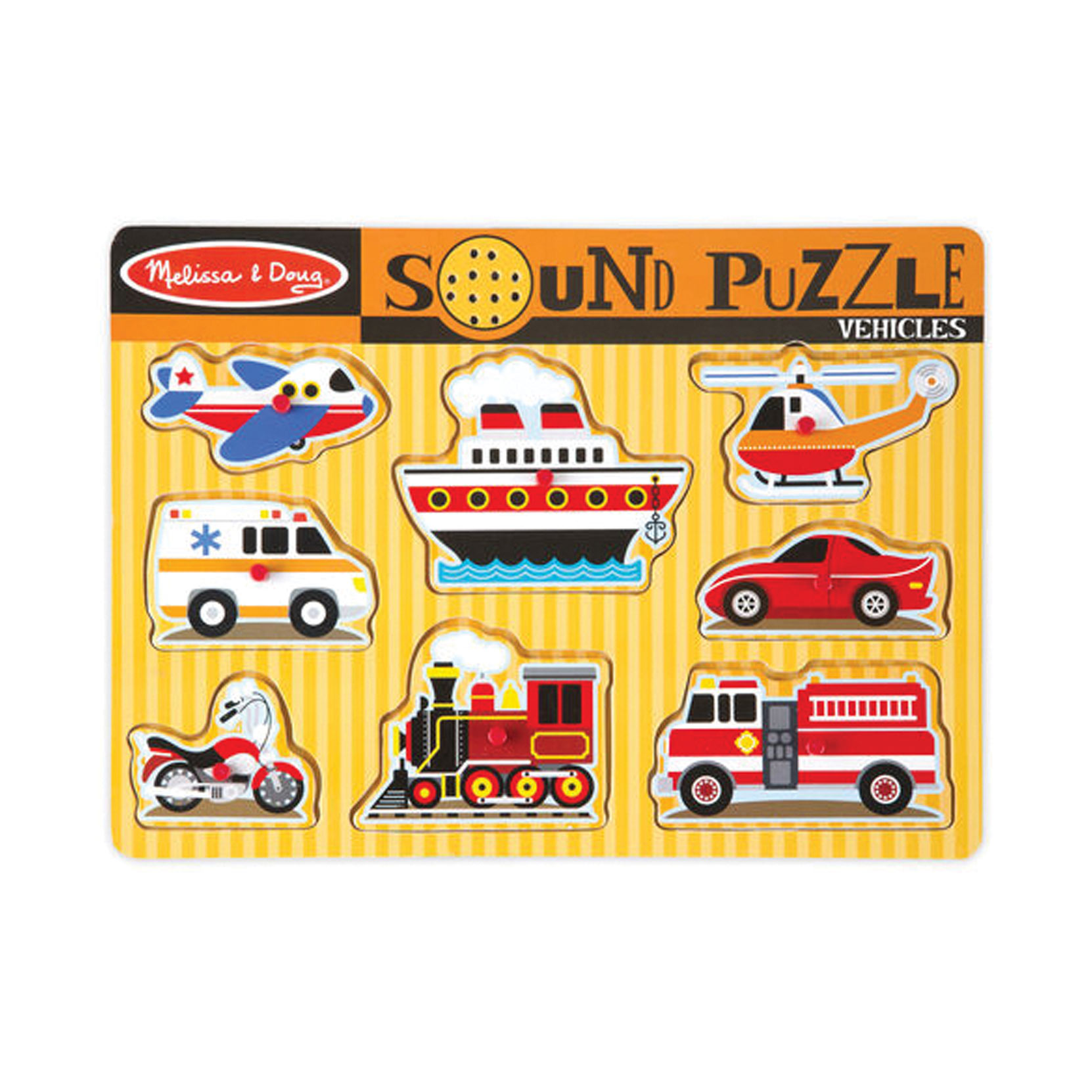 Sound Puzzle with Braille Pieces- Vehicles