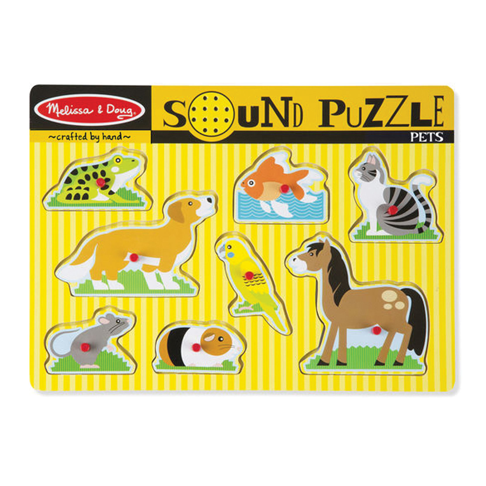 Sound Puzzle with Braille Pieces- Pets