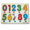 Melissa and Doug Tactile Numbers Peg Puzzle 0-9 with Braille Markings