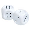 Giant Tactile Dice- White with Black Dots - Set-2